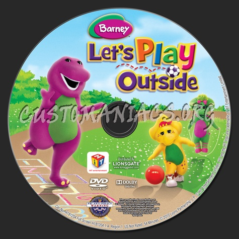 Barney: Let's Play Outside dvd label
