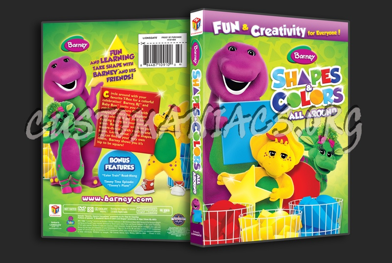 Barney: Shapes & Colors All Around Dvd Cover
