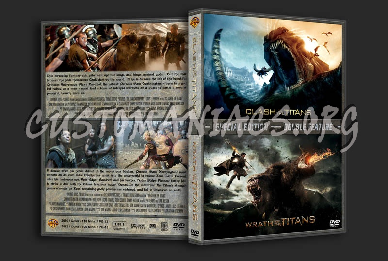 Clash/Wrath of the Titans Double dvd cover
