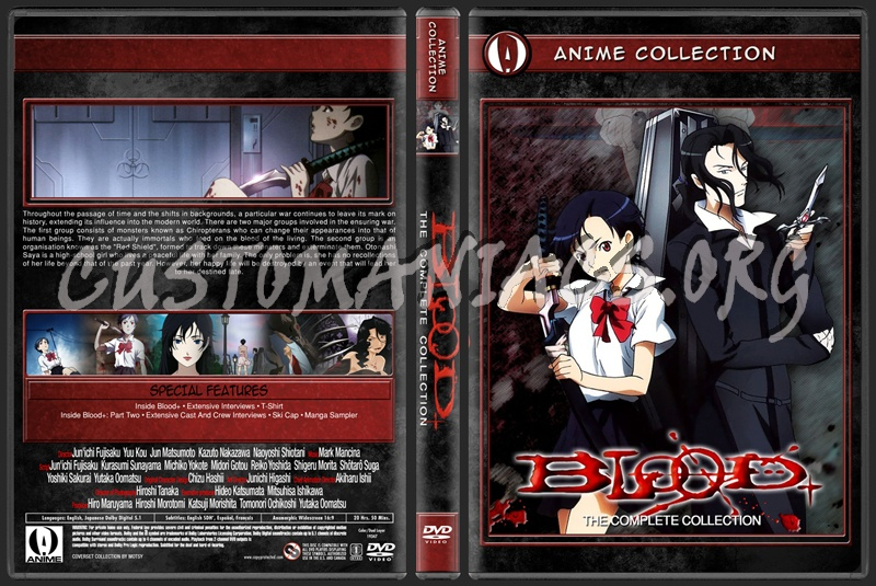 Anime Collection Blood+ Complete Collection dvd cover