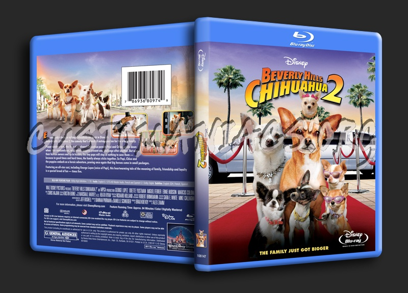 Beverly Hills Chihuahua 2 blu-ray cover