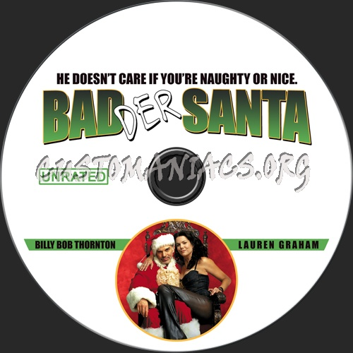 Bad Santa (Badder Santa) dvd label