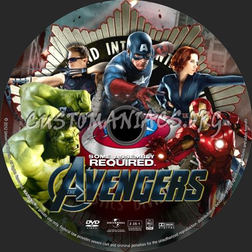 The Avengers (2012) dvd label
