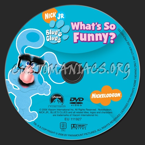Blue's Clues: What's So Funny? dvd label - DVD Covers ...