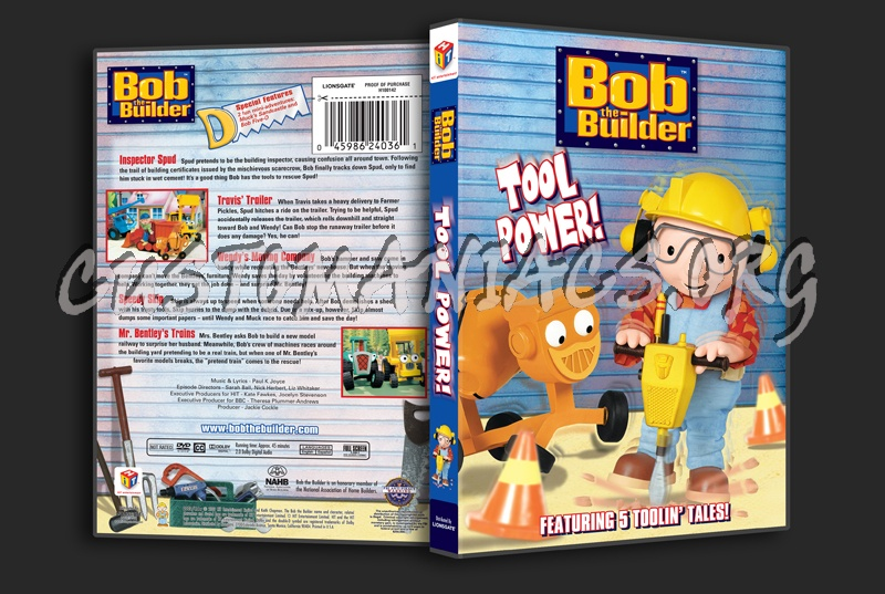 Bob The Builder Dvd Trailer Travis Dvd: Bob The Builder: Tool Power! Dvd Cover