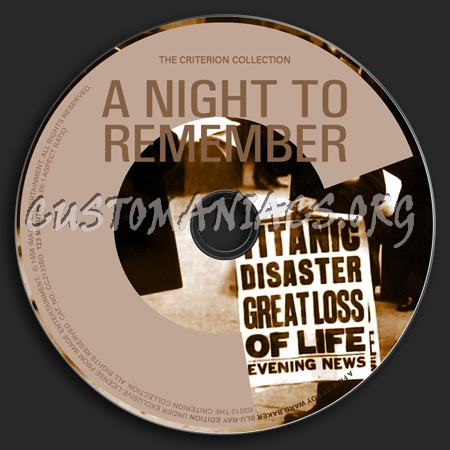 007- A Night To Remember dvd label