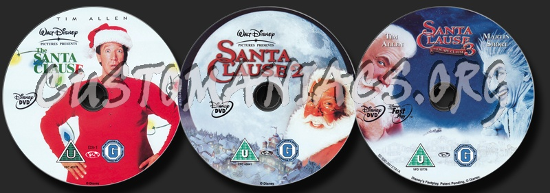 The Santa Clause Collection dvd label
