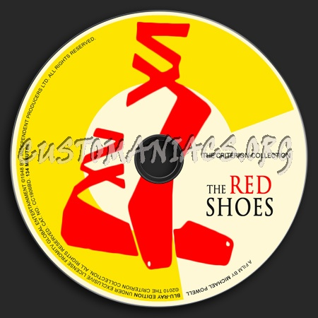 044 - The Red Shoes dvd label