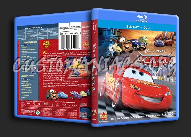 Cars blu-ray cover