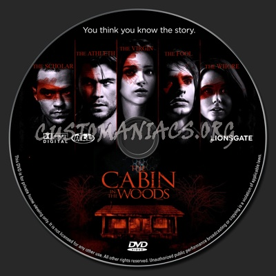 Cabin in the Woods DVD Label