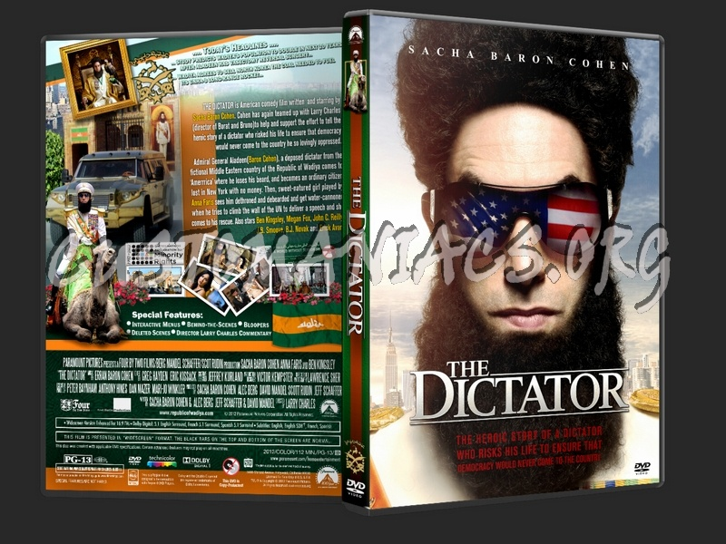 The Dictator (2012) dvd cover