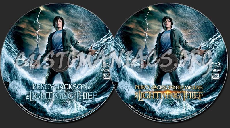 Percy Jackson & the Olympians: The Lightning Thief blu-ray label