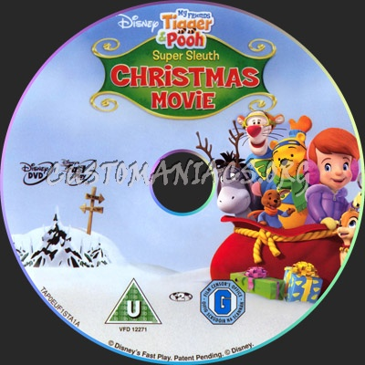 My Friends Tigger & Pooh Super Sleuth Christmas Movie dvd label