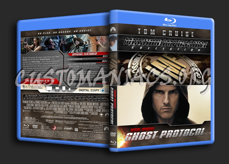 Mission Impossible Collection - Mission: Impossible Ghost Protocol (3-Disc Edition) blu-ray cover