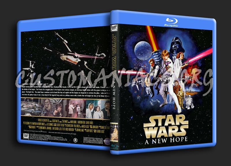 Star Wars Episode Iv A New Hope Blu Ray Cover Dvd Covers Labels By Customaniacs Id 166191 Free Download Highres Blu Ray Cover