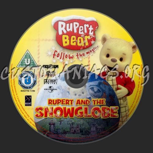 Rupert The Bear Rupert And The Snow Globe dvd label