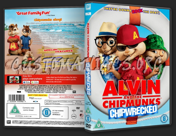 alvin and the chipmunks chipwrecked dvd cover dvd covers