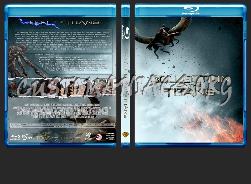 Clash / Wrath of the Titans colelction blu-ray cover