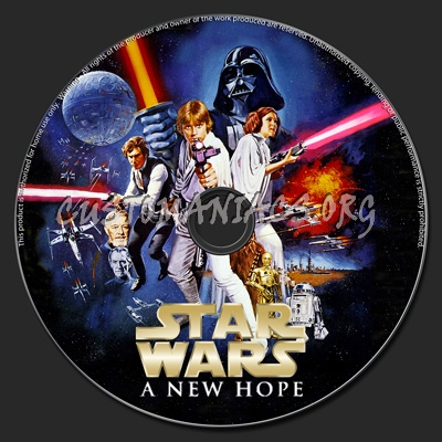 Star Wars Episode Iv A New Hope Dvd Label Dvd Covers Labels By Customaniacs Id 166360 Free Download Highres Dvd Label