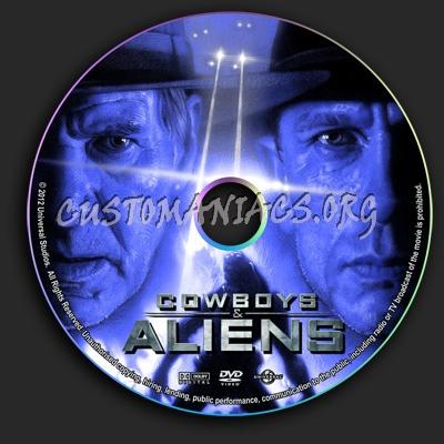 Cowboys & Aliens dvd label