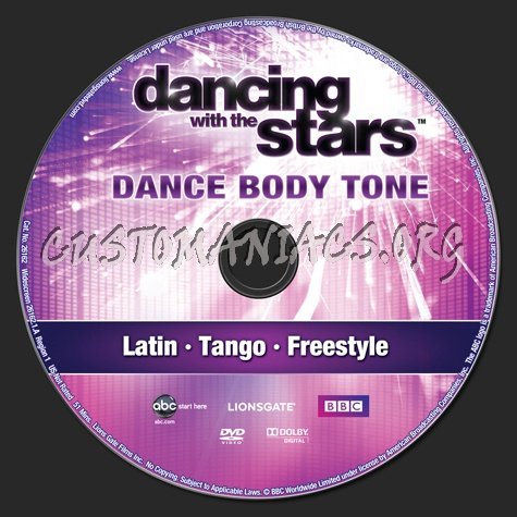 Dancing With the Stars Dance Body Tone dvd label
