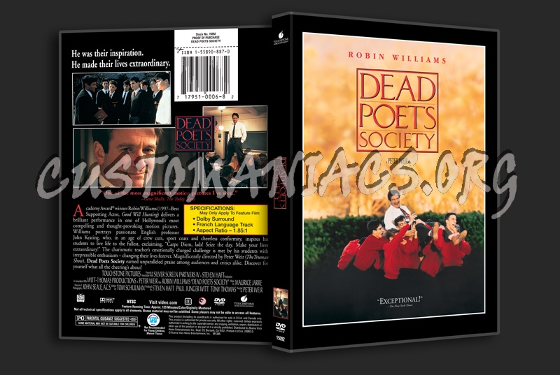 Dead Poets Society dvd cover