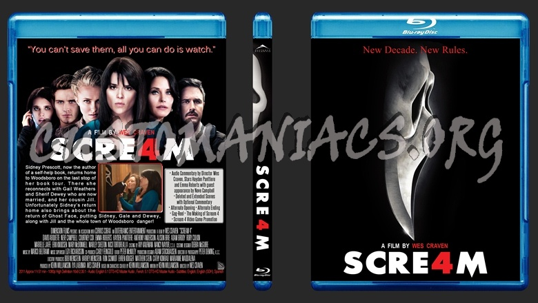 Scream 1-4 Collection blu-ray cover
