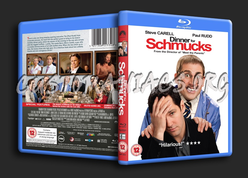 Dinner for Schmucks blu-ray cover