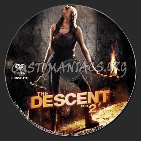 The Descent Part II dvd label