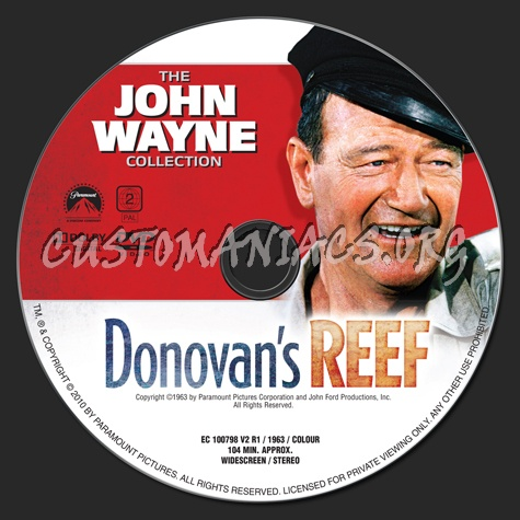 Donovan's Reef dvd label