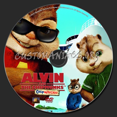 alvin and the chipmunks chipwrecked dvd label dvd covers labels