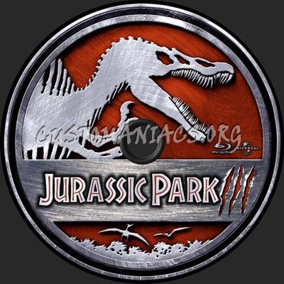 Jurassic Park III blu-ray label