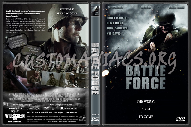 Battle Force (aka Battle Recon The Call To Duty) dvd cover