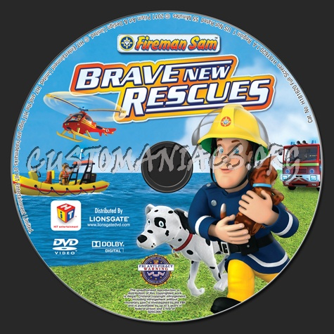 Fireman Sam: Brave New Rescues dvd label