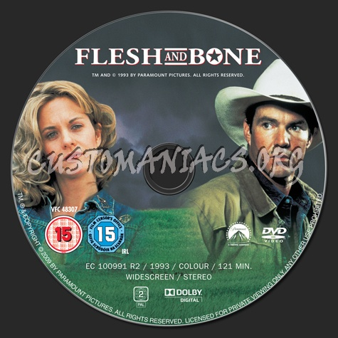 Flesh and Bone dvd label