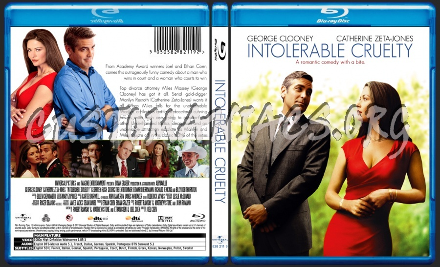 Intolerable cruelty dvd label dvd covers & labels by.