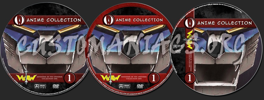 Anime Collection Voltron Defender Of The Universe Collection 1 dvd label