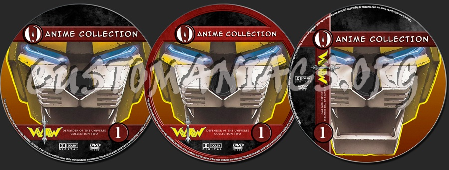 Anime Collection Voltron Defender Of The Universe Collection 2 dvd label