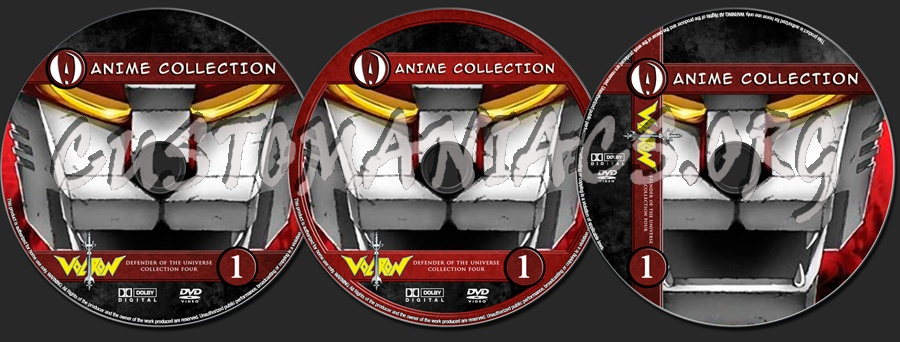 Anime Collection Voltron Defender Of The Universe Collection 4 dvd label