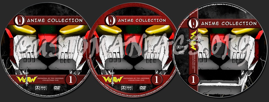 Anime Collection Voltron Defender Of The Universe Collection 5 dvd label