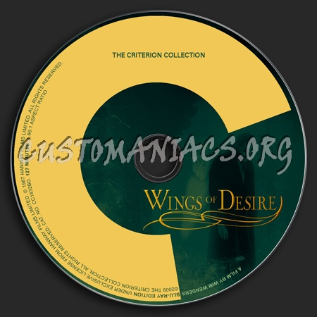 490 - Wings Of Desire dvd label