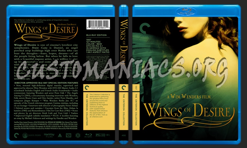 490 - Wings Of Desire blu-ray cover
