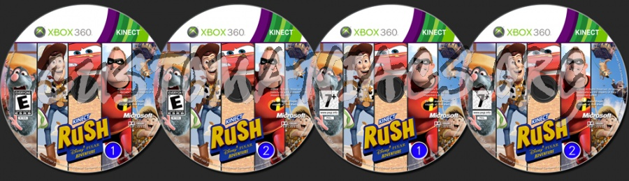 Kinect Rush A Disney Pixar Adventure dvd label