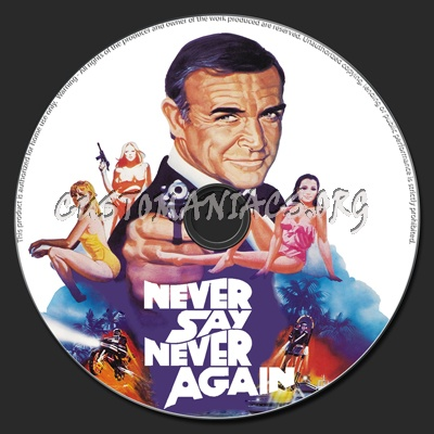 Never Say Never Again dvd label