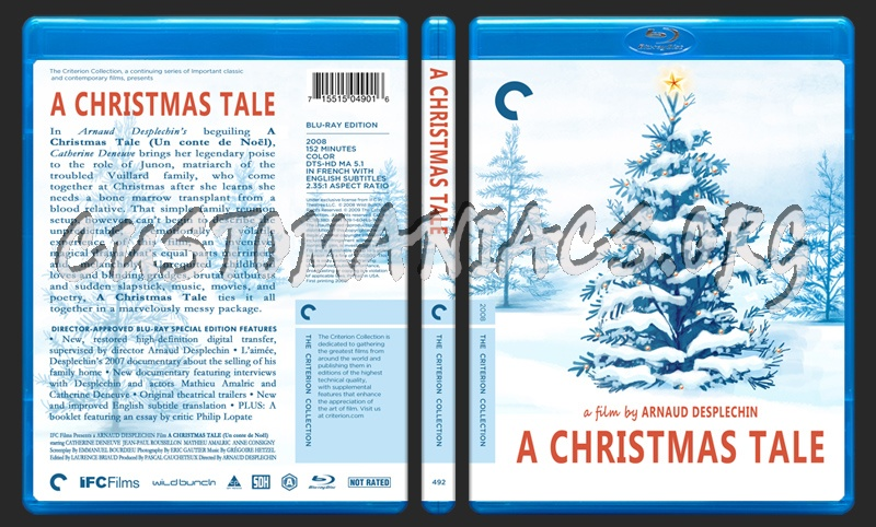 492 - A Christmas Tale blu-ray cover
