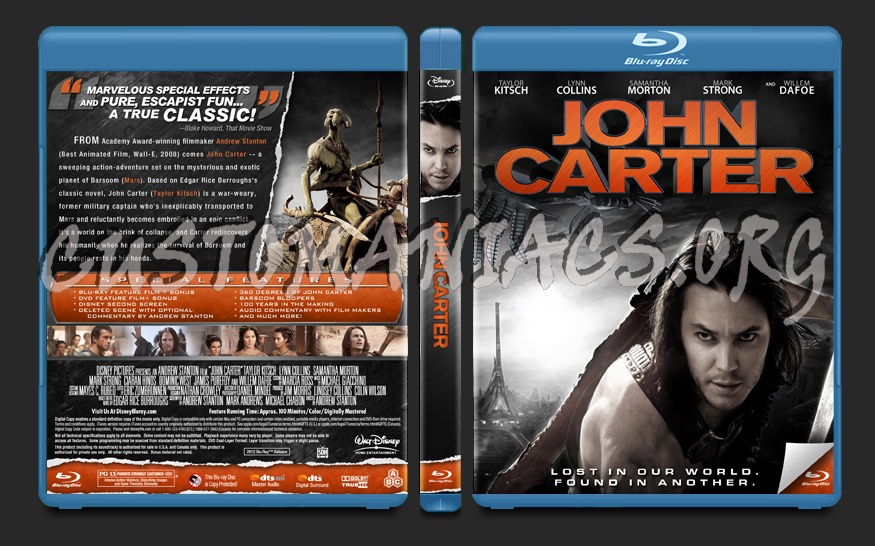 John Carter blu-ray cover