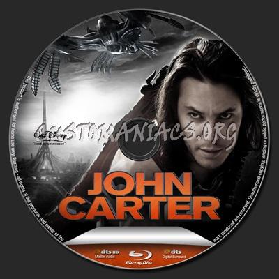 John Carter blu-ray label