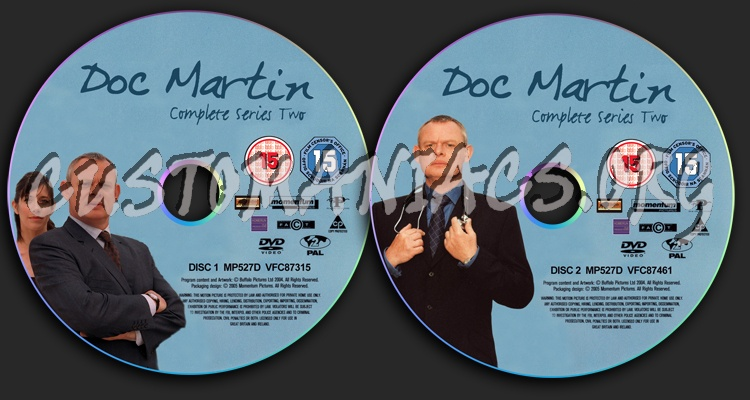 Doc Martin Series 2 dvd label