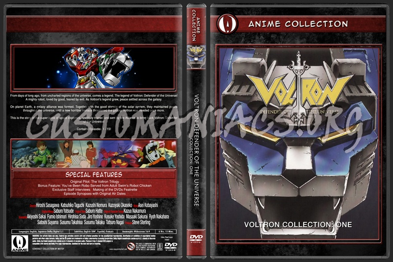 Anime Collection Voltron Defender Of The Universe Collection One dvd cover