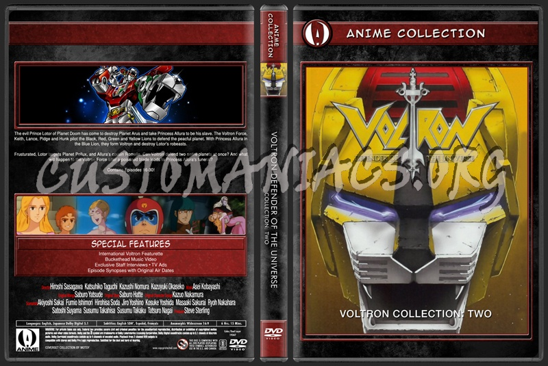 Anime Collection Voltron Defender Of The Universe Collection Two dvd cover